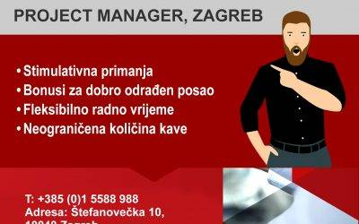 Otvoreno radno mjesto – PROJECT MANAGER