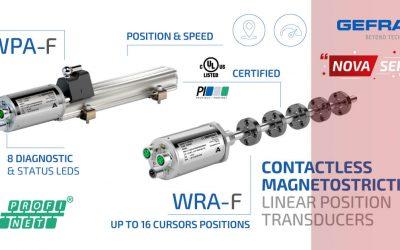 Gefran mjerne letve: Nova serija WPA-F i WRA-F s PROFINET® sučeljem