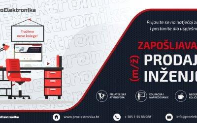 Oglas za posao: Prodajni inženjer (m/ž)